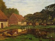 1863. Farmyard in Normandy.