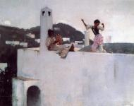 1878. Capri Girl on a Rooftop