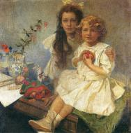 Jaroslava And Giri The Artists Children. 1919
