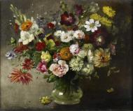 A STILL LIFE OF MIXED FLOWERS
