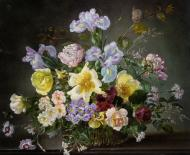 A Still Life with Peonies and Other Flowers