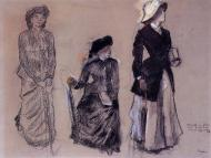 1879. Project for Portraits in a Frieze - Three Women