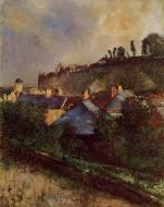1896-1898. Houses at the Foot of a Cliff (also known as Saint-Valery-sur-Somme)