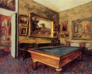 1892. The Billiard Room at Menil-Hubert
