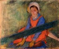 1885. Woman Seated on a Bench