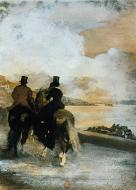 1861. Two Riders by a Lake