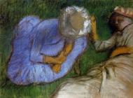 1882. Young Women Resting in a Field