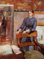 1886-1895. Helene Rouart in Her Father's Study
