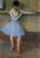 1889. Dancer in Blue at the Barre