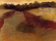 1890-1893. Wheatfield and Line of Trees