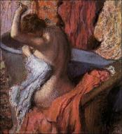 1899. Seated Bather Drying Herself