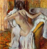 1890-1895. After the Bath, Woman Drying Herself