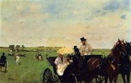 1872. A Carriage at the Races  -