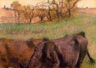 1890-1893. Landscape. Cows in the Foreground