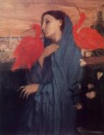 1857. Woman on a Terrace (also known as Young Woman and Ibis)