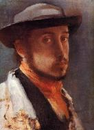 1857-1858. Self Portrait in a Soft Hat