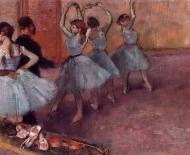 1882. Dancers in Light Blue (also known as Rehearsing in the Dance Studio)
