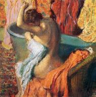 1895. Seated Bather Drying Herself