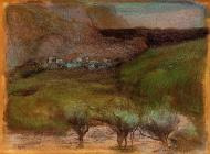 1890-1893. Olive Trees against a Mountainous Background