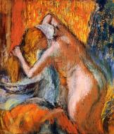 1903. After the Bath, Woman Drying Her Hair