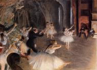 1874. The Rehearsal of the Ballet on Stage