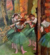 1885-1895. Dancers, Pink and Green