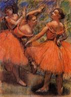 1897-1901. Red Ballet Skirts