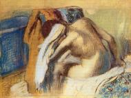 1893-1898. Woman Drying Her Hair