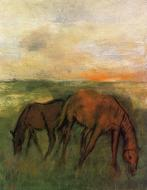 1871. Two Horses in a Pasture