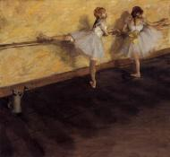 1876-1877. Dancers Practicing at the Barre