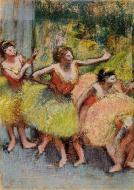1899-1904. Dancers in Green and Yellow