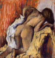 1896-1898. Woman Drying Herself
