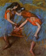 1902. Two Dancers with Yellow Corsages