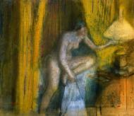 1883. Bedtime (also known as Woman Extinguishing Her Lamp)