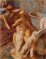 1893-1898. Woman Drying Herself
