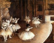 1874. The Ballet Rehearsal on Stage