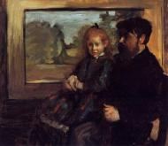 1871-1872. Henri Rouart and His Daughter Helene
