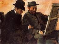 1878-1880. The Amateurs (also known as Paul Lafond and Alhonse Cherfils Examening a Painting)