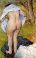 1885. Nude Woman Pulling on Her Clothes