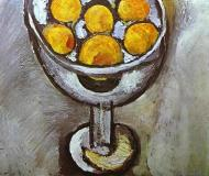 A Vase With Oranges