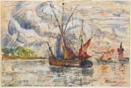 Fishing Boats in La Rochelle, 1919-21