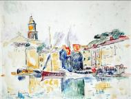 French Port of St. Tropez, 1914