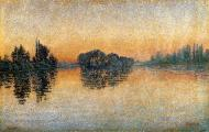 Herblay, Sunset, 1889