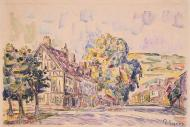Street with a Frame House in Normandy, 1925