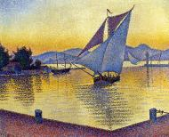 The Port at Sunset, Saint-Tropez, 1892